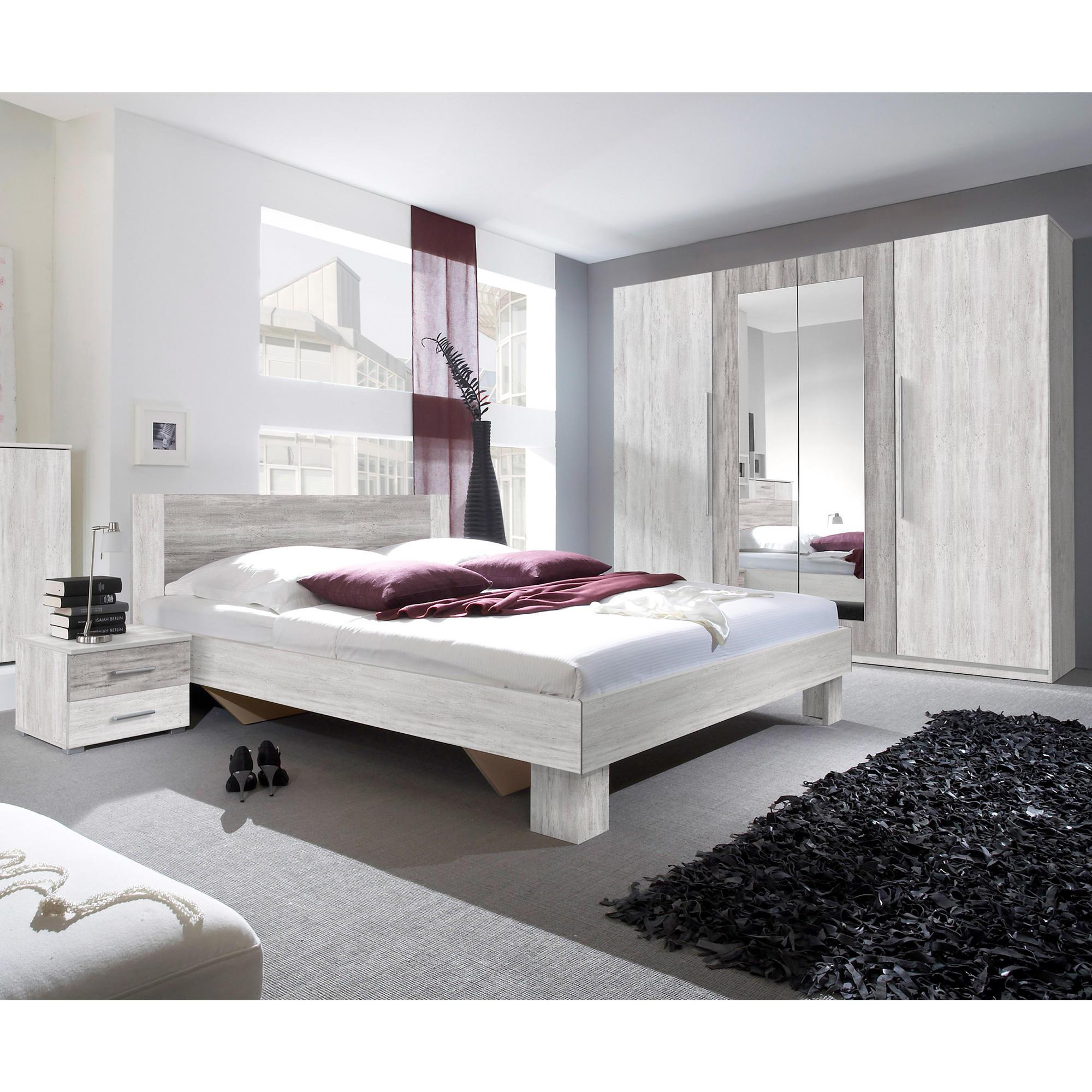 Chambre à coucher 2 personnes Milano + sommier - Chambres à coucher ...