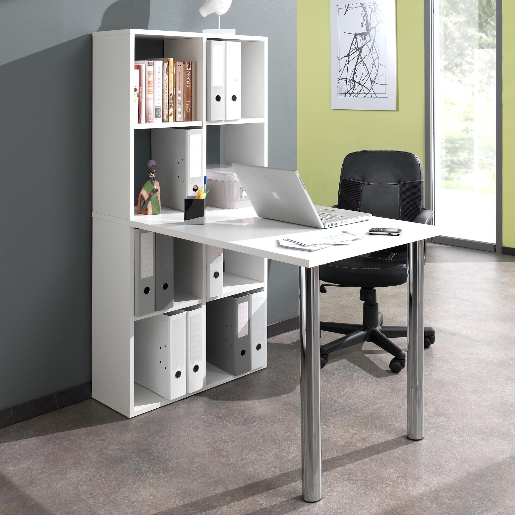 Bureau avec bibliothèque intégrée - Bureaux - UNIGRO.be