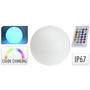 Boule LED multicolore avec télécommande