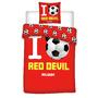 Dekbedovertrekset I Love Red Devil Belgium