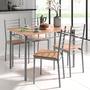 Table + 4 chaises en lot