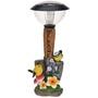 Lampe solaire avec oiseaux et fleurs