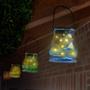Lot de 2 lampes solaires dans un bocal en verre