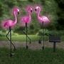 Set van 3 solarlampen 'Flamingo's'