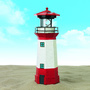 Lampe solaire 'Phare' EASY MAXX