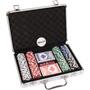 Pokerset koffer aluminium 200 chips
