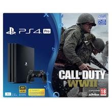 Pack PS4 Pro console 1 TB + spel Call of Duty WWII