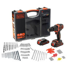 Set accuklopboormachine + 160 accessoires BLACK+DECKER BDCHD18BOA-QW van BLACK&DECKER