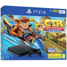 Pack PS4 console 500 GB + spel Crash Team Racing Nitro-Fueled