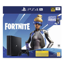 Pack console PS4 PRO 1 To + jeu Fortnite (version téléchargeable)