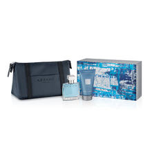 Set cadeau Chrome : eau de toilette + gel douche + trousse de toilette