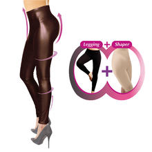 Figuurcorrigerende legging in leatherlook COMFORTISSE