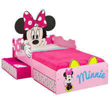 Kinderbed + bodem Minnie Mouse