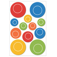 Muurstickers 3D Colourful Circles
