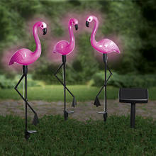 Set van 3 solarlampen 'Flamingo's'