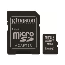 16GB microSDHC Kingston - Flash memory card (microSDHC SDC4/16GB Class 4