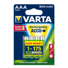 Varta Ready To Use accus rechargeables AAA 4 pieces Longlife 800MAH HR03 R2U