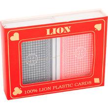 Speelkaartenset LION 100% plastic duobox