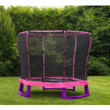 Plum  Jr Trampoline diam. 214cm Trampoline Plum 7ft junior met net roze