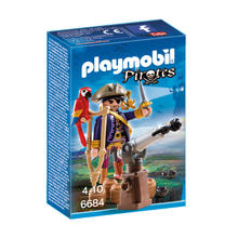 PLAYMOBIL® 6684 Capitaine pirate avec canon de PLAYMOBIL