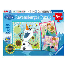 3 puzzles Disney Frozen Fever RAVENSBURGER