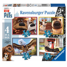 4 puzzels Secret Life of Pets RAVENSBURGER