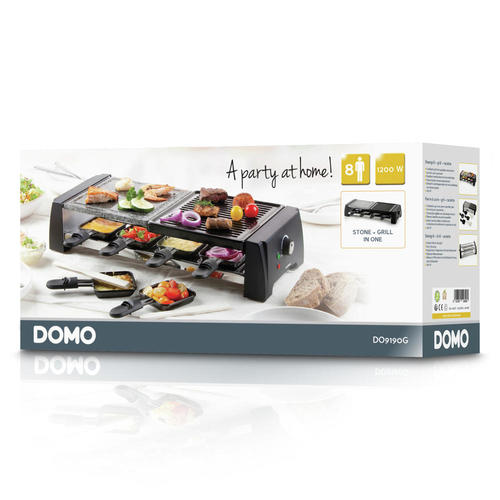 Steengrill/raclette/grill DOMO DO9190G