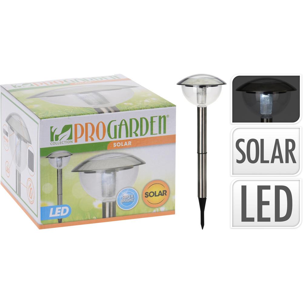 Lampe solaire en inox - Déco jardin - UNIGRO.be